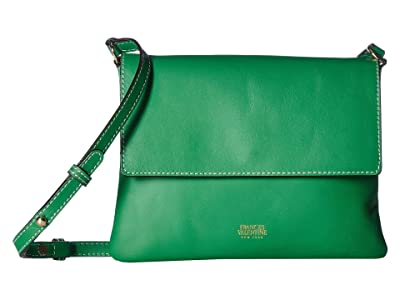 Frances Valentine Maggie Small Flap Crossbody (Green Ray) Handbags