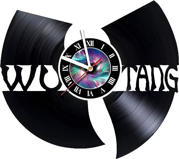 AnnaSStudio Wu Tang Music Handmade Vinyl Record Wall Clock Best Gift For Boss Dad Mom Boy Girl Kovides Vinyl Wall Clock Home Decoration Room Inspirational Vinyl Wall Clock Silent Wall Art 4