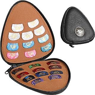 MoKo Sac de Rangement en Cuir PU pour Médiators de Guitare avec 22 PCS Médiators Multicolores et 6 Épaisseurs Différentes,...