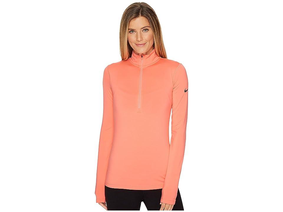 Nike Pro Long Sleeve Half Zip (Sunblush/Dark Grey) Women