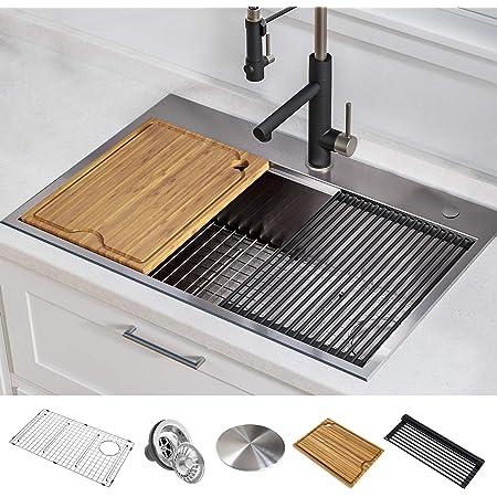 Kraus KWT310-30 KORE Kitchen Sink Single Bowl, 30 Inch