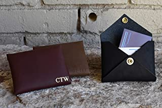 Custom Leather Card Wallet. Monogram Card Holder. ID Card Wallet. Personalized Leather Card Wallet. Makes a great gift!