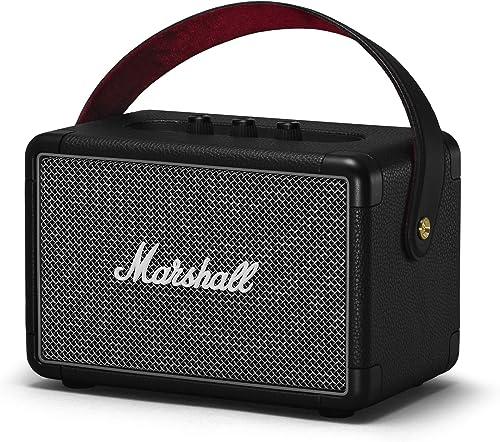 Marshall Kilburn II Portable Bluetooth Speaker, Water-Resistant Wireless Bluetooth Speaker, with 20+ Hours of Portabl...