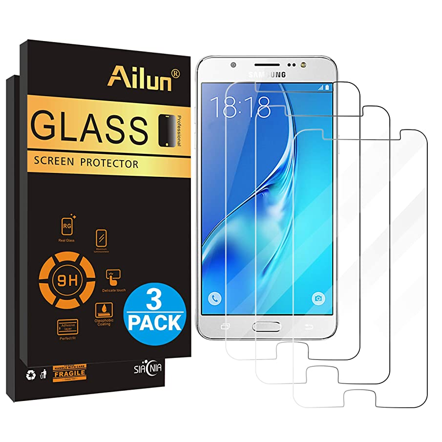 Ailun Screen Protector for Galaxy J7(2018)[3Pack] Tempered Glass Compatible with Samsung Galaxy J7/j7 Star(2018) J7 V(2nd Gen) 2018/J7 Top 2018/J7 Aura 2018/J7 Crown 2018,Case Friendly