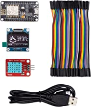 ThingPulse #1 Arduino WiFi ESP8266 Starter Kit for IoT, NodeMCU Wireless, I2C OLED Display, DHT11 Temperature/Humidity Sensor, Comprehensive Manual with Exercises