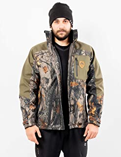 ARES SPORT Camo Hunting Jacket, Men's 2-in-1 Soft Shell...