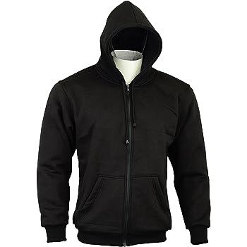Sweat /à Capuche Moto doubl/é 100/% Kevlar VFLUO Full Protect Sweatshirt/™ Skull t/ête de Mort R/éfl/échissants 3M Technology/™ XS Noir Protections int/égrale Anti-Choc Ultra-Souple SAS-TEC/™