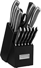 Cuisinart Graphix Collection Cutlery Knife Block Set, Stainless Steel, 15-Piece, (C77SS-15P)