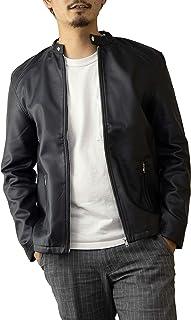 (ナイラス) NYLAUS ライダースジャケット メンズ シングル フェイクレザー PUレザー レザータッチ 黒 紺 ワイン レザージャケット シングルライダース 革ジャン ライダース ブルゾン お洒落 カジュアル