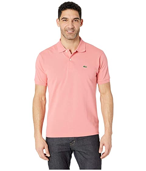e29da494c7cb85 Lacoste Short Sleeve Classic Pique Polo Shirt at Zappos.com