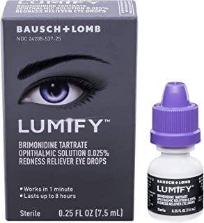 LUMIFY Redness Reliever Eye Drops 0.25 Fl Oz (7.5mL)