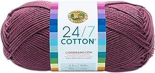 Lion Brand Yarn Company Cotton Yarn, 100 Percent Cotton, Lilac