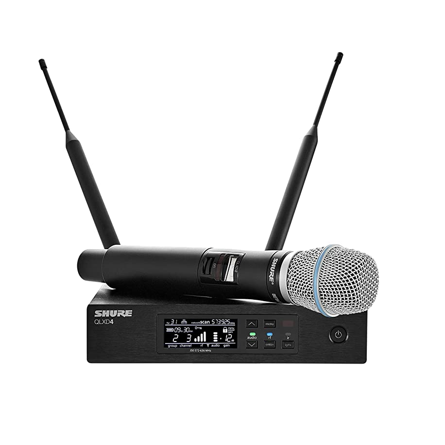 Shure QLXD24/B87A Handheld Wireless System with BETA 87A Vocal Microphone, H50