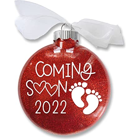 Baby Announcement Baby Coming Soon 2021 Christmas Ornament