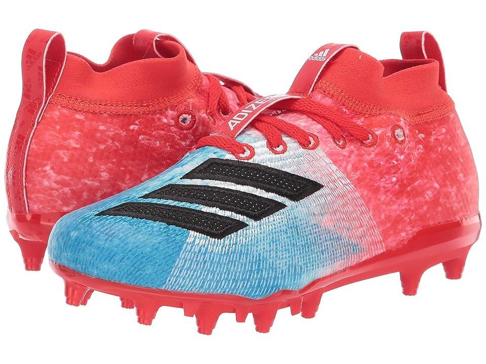adidas Kids Adizero Burner Snowcone Football (Little Kid/Big Kid) (Shock Cyan/Black/Active Red) Kids Shoes
