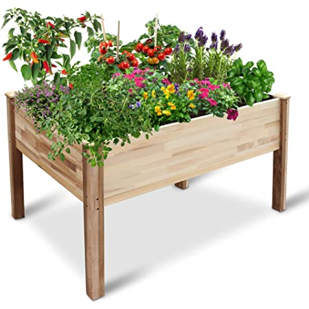 Estate Millwork Long Lasting PVC Composite 36 X 36 X 7.25 Bed and More Fruits Azek Vegetables Perfect for Flowers Raised Bed Garden Kit Cross Shaped Bed Plants