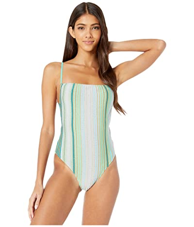 Missoni Mare Mixed Stripe One-Piece Swimsuit (Blue) Women