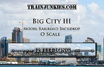 Train Junkies Big City 3- Model Railroad Backdrop in O Scale
