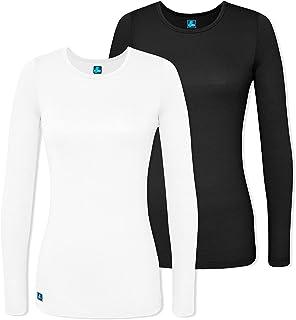 1b6d133ba79 Adar Medical Uniforms (2 Pack) Women's Pop-Stretch Crossover Scrub Top  Hospital Workwear