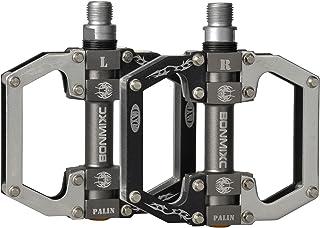 BONMIXC Bike Pedals 9/16 MTB Pedals Platform Nice Grip Mountain Bike Pedals Sealed Bearing Alloy Road Bike Pedals