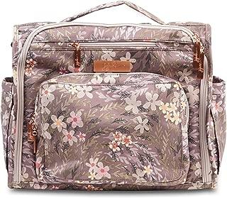 JuJuBe BFF Diaper Backpack, Multi-Functional Convertible + Messenger Bag | Travel-Friendly, Stylish Diaper Bag | Sakura at Dusk