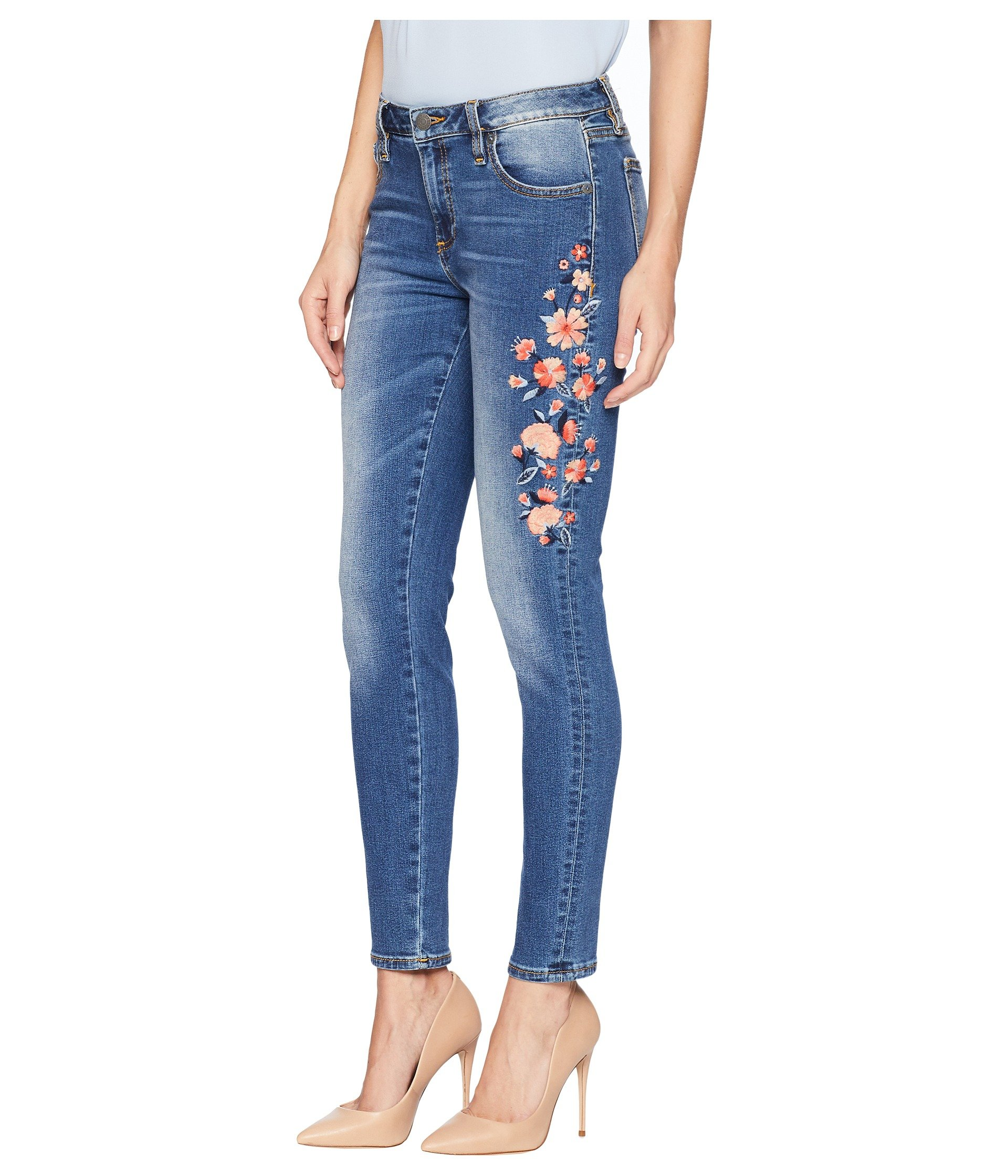 Jeans Miss rise Embroidered In Mid Skinny Blue Me Medium q44TzwHxS