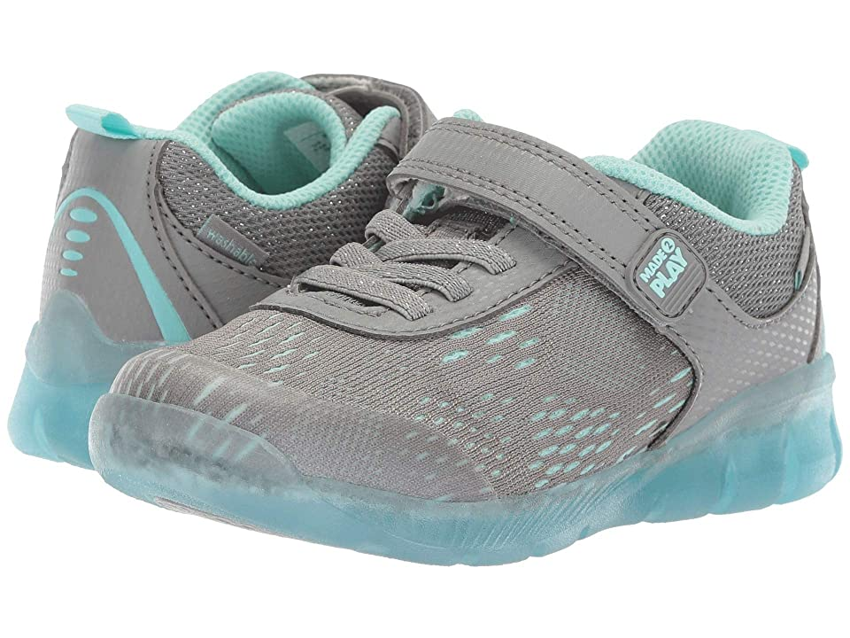 Stride Rite M2P Lighted Neo (Toddler) (Grey/Blue) Girls Shoes