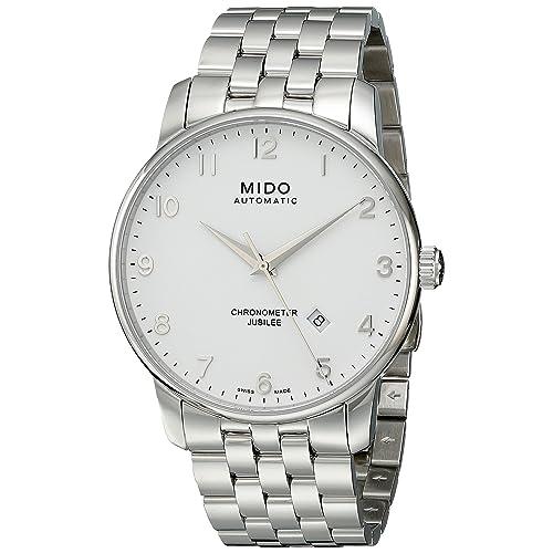 Mido Mens MIDO-M86904111 Baroncelli Analog Display Swiss Automatic Silver Watch