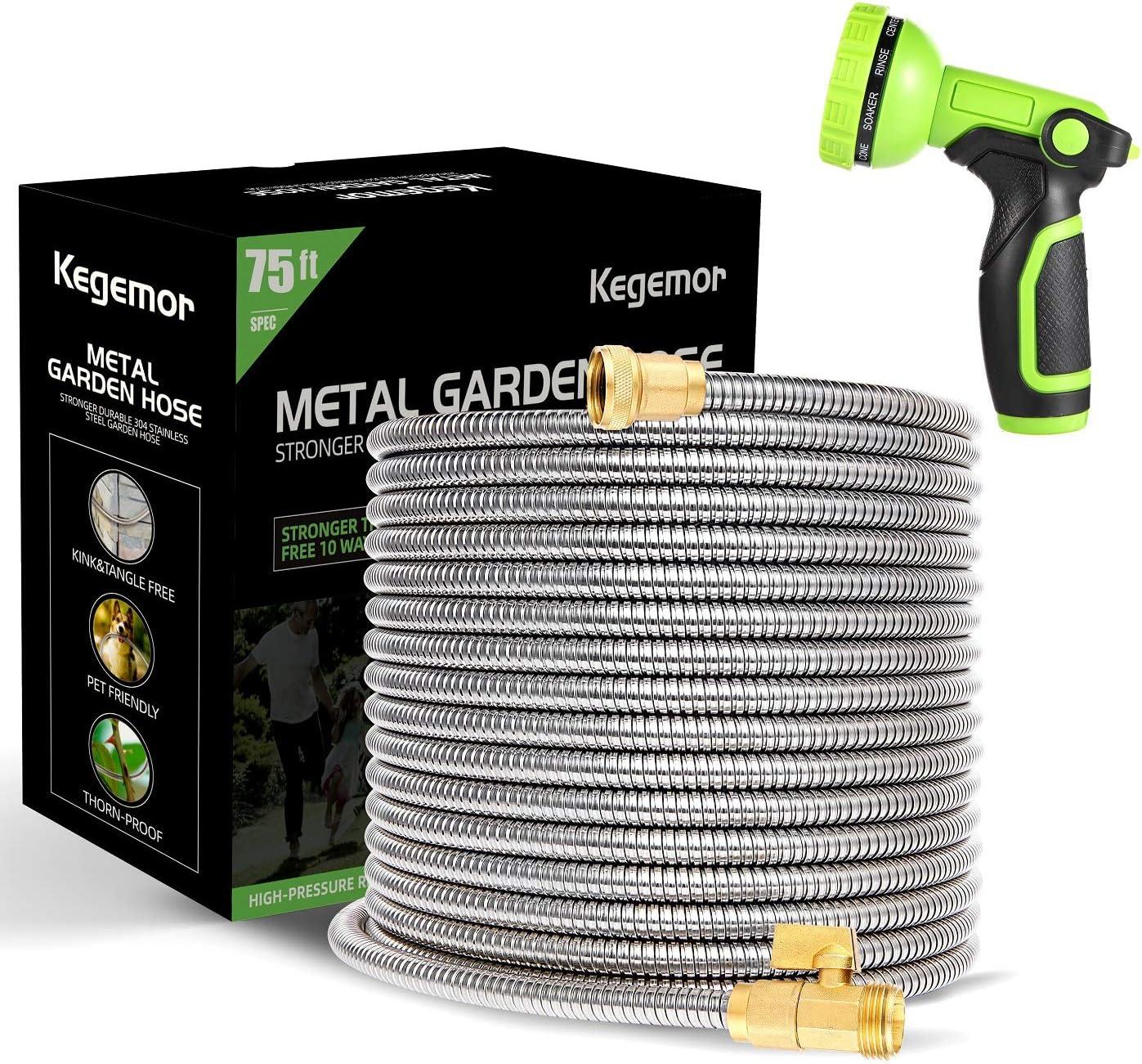 kegemor 70% OFF Outlet Garden Hose 75 Excellent Lightweight ft-Metal Water -Flexible
