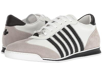 DSQUARED2 New Runner Sneaker (White/Black/Grey) Men