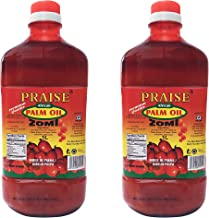 Praise Red Palm Oil, 1- Liter (Pack of 2) - Zomi