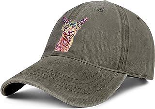 Cute Baby Fluffy Alpaca Llama Mens Women Jean Baseball Cap Adjustable Snapback Beach Hat