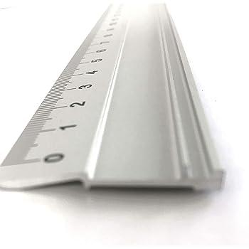 Victor Bar Schneidelineal aus Aluminium Profi-Ausf/ührung rutschsicher verschiedene Gr/ö/ßen 31cm