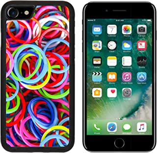 MSD Premium Apple iPhone 7 Aluminum Backplate Bumper Snap Case iPhone7 IMAGE ID 29843309 Colorful background Rainbow loom rubber bands fashion