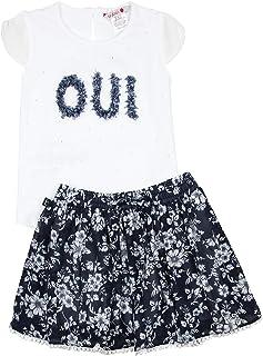 Boboli Girl's Embellished Top and Floral Skirt Set, Sizes 4-16