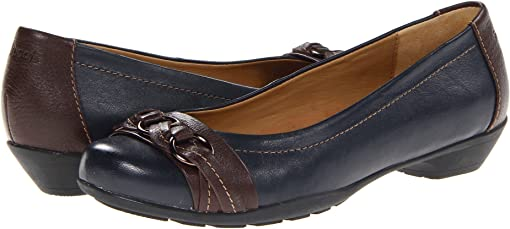 Navy/Chocolate Velvet Sheep Nappa