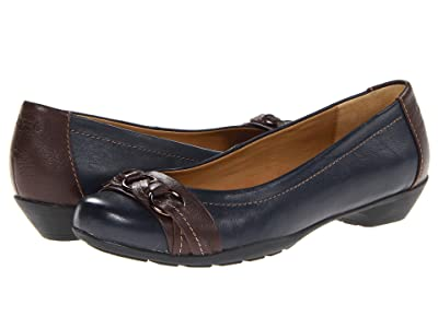 Comfortiva Posie Soft Spots (Navy/Chocolate Velvet Sheep Nappa) Women