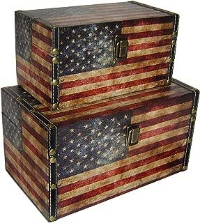 Cheung's FP-3513-2US Us Flag Treasure Box| Set of 2