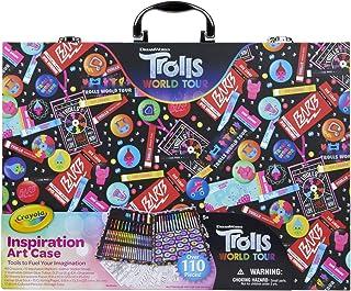 Crayola Trolls World Tour Inspiration Art Case, 110+ Pcs, Art Set, Gifts for Girls & Boys