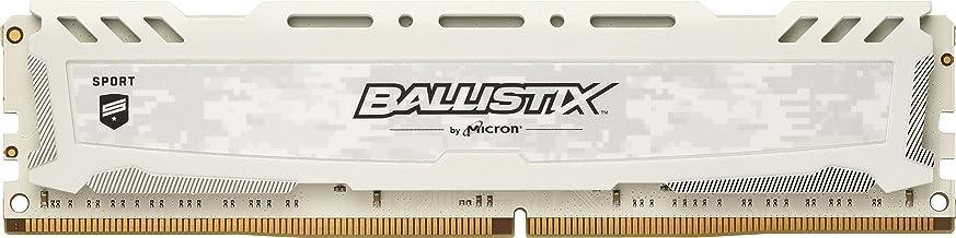 Crucial Ballistix Sport LT 2400 MHz DDR4 DRAM Desktop Gaming Memory Single 8GB CL16 BLS8G4D240FSC (White)