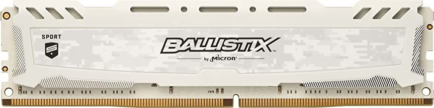 Ballistix Sport LT 4GB Single DDR4 2666 MT/s (PC4-21300) SR x8 DIMM 288-Pin Memory - BLS4G4D26BFSC (White)