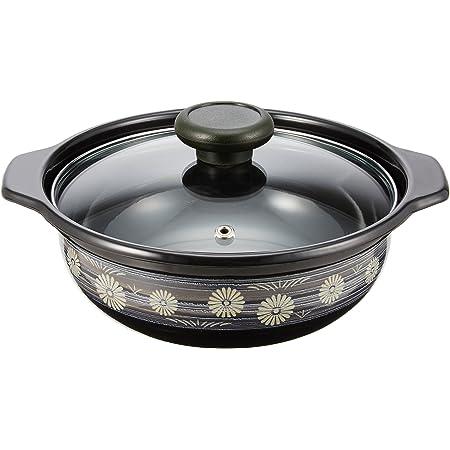 高木金属 両手鍋 卓上鍋 ホーロー IH対応 18cm 味わい鍋 弥生(やよい) HA-Y18