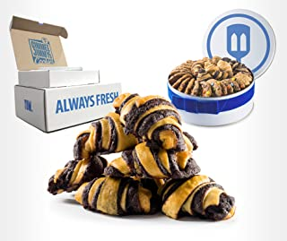 Fresh Chocolate Studel Rugelach Gift Tin | Gimmee Jimmy's Cookies | 3 Pound