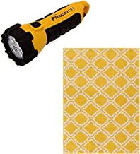 Toucan City LED Flashlight and Well Woven StarBright Calipso Yellow 3 ft. x 5 ft. Kids Area Rug 09414