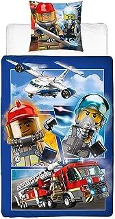 Character World Lego - Juego de Cama Infantil (Funda de Almohada de 80 x 80 cm y Funda nórdica de 135 x 200 cm, 100% algodón), diseño de policía