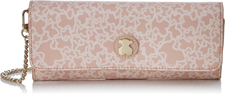 Tous Kaos Mini Lona, Women's Wallet, Pink, 2x10x22 cm (W x H L)