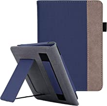WALNEW Stand Case Fits Kindle Paperwhite 10th Generation 2018 PU Leather Case Smart Protective Cover with Hand Strap (Navyblue)