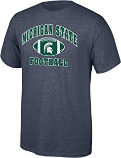 Elite Fan Shop Michigan State Spartans Men's Football T-Shirt Dark Heather, Small