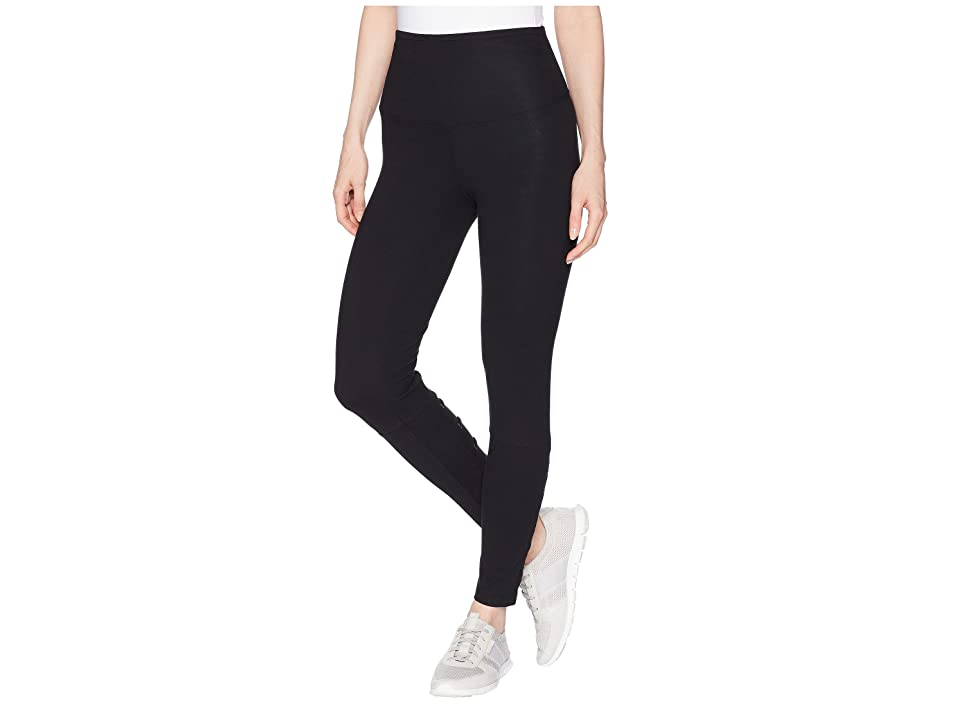 Yummie Ankle Leggings with Faux Lace-Up (Black) Women