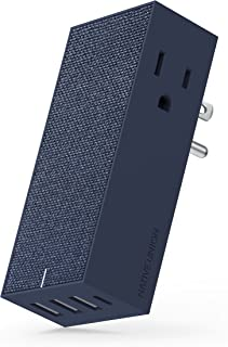 Native Union Smart HUB - 4-Port USB Wall Charger (Including One USB-C Port) with 2 x AC Outlets - Quick Charging for iPhone, iPad, Smartphones and Tablets (Marine)